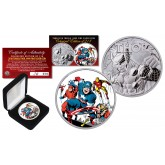 2018 1 oz Pure Silver Tuvalu Marvel Comics THOR Coin Limited & Numbered of 218 - AVENGER CAPTAIN AMERICA