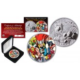 2018 1 oz Pure Silver Tuvalu Marvel Comics THOR Coin Limited & Numbered of 218 - AVENGER THOR