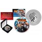 2018 1 oz Pure Silver Tuvalu Marvel Comics THOR BU Colorized Limited Editon of 500 Coin