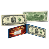 LUCKY MONEY 7's * SERIAL # 777 * Genuine Legal Tender U.S. Uncirculated Banknote $2 Bill - E Series