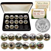TRIPLE CROWN WINNERS Thoroughbred Horse Racing JFK Half Dollar U.S. 13-Coin Set with Deluxe Display Box