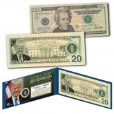 DONALD TRUMP 2020 45th President of the United States Official Genuine Legal Tender $20 U.S. Bill - Limited Edition of 2,020