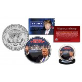 DONALD TRUMP 45th President of the United States * Make America Great Again * Colorized JFK Kennedy Half Dollar U.S. Coin