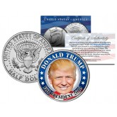 DONALD TRUMP For President 2016 Colorized Official Genuine JFK Kennedy Half Dollar U.S. CAMPAIGN Coin