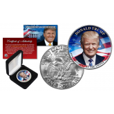 DONALD J. TRUMP 45th President of the United States Official Genuine Legal Tender IKE Eisenhower One Dollar U.S. Coin with Premium Display BOX