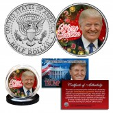 DONALD TRUMP Official XMAS Merry Christmas JFK Kennedy Half Dollar U.S. Coin