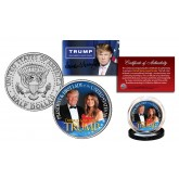DONALD & MELANIA TRUMP 45th President & First Lady of the United States Official JFK Kennedy Half Dollar U.S. Coin
