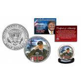 DONALD J. TRUMP Aboard the USS GERALD R. FORD Official JFK Kennedy Half Dollar U.S. Coin Navy Warship