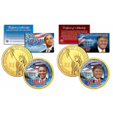 Donald Trump & Barack Obama PRESDIENTIAL $1 Dollar 2-Coin U.S. Set with FREE Bonus Obama Coin (3 Coins Total)