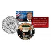 Donald Trump & Barack Obama HISTORIC MEETING at the Whitehouse Nov.10, 2016 JFK Kennedy Half Dollar U.S. Coin