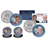 DONALD TRUMP & MIKE PENCE 45th President & VP Official U.S JFK Kennedy Half Dollar 2-Coin Set - TRUMP/PENCE