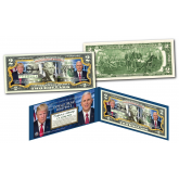 DONALD TRUMP / MIKE PENCE (President & Vice President)  *OFFICIAL PORTRAITS * Genuine Legal Tender U.S. $2 Bill