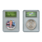 DONALD TRUMP 45th President of the United States OFFICIAL PORTRAIT 2017 1 oz. U.S. AMERICAN SILVER EAGLE in SPECIAL HOLDER