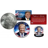 DONALD TRUMP 45th President 1976 Bicentennial IKE Eisenhower Genuine Dollar Coin