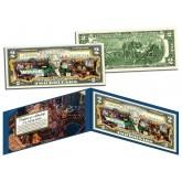 LAS VEGAS Colorized $2 Bill Genuine Legal Tender U.S. Currency