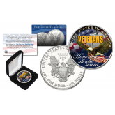 VETERANS U.S.A. Honoring all who Served OFFICIAL 1oz .999 AMERICAN SILVER EAGLE with Deluxe Box