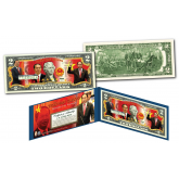 TRAN DAI QUANG * President of Vietnam * Official Colorized U.S. Genuine Legal Tender U.S. $2 Bill with Certificate & Display Folio