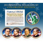 2013 Presidential $1 Dollar U.S. COLORIZED - Complete 4-Coin Set - with Capsules