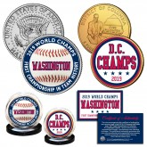 Washington Nationals 2019 World Champions 1st in Team History Genuine U.S. 2-Coin Set with Certificate