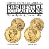WOODROW WILSON 2013 Presidential $1 Dollar 2-Coin US Mint Set - BOTH P&D MINT