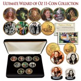 WIZARD OF OZ Kansas State Quarter 24K Gold Plated ULTIMATE 9-Coin Collection with Display BOX & 2-FREE Bonus Coins - Officially Licensed