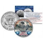WORLD'S FAIR - 50th Anniversary - NEW YORK 1964-2014 Unisphere JFK Half Dollar Coin