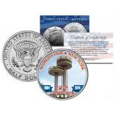 WORLD'S FAIR - 50th Anniversary - NEW YORK 1964-2014 Observation Towers JFK Half Dollar Coin