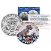 WORLD'S FAIR - 50th Anniversary - NEW YORK 1964-2014 Tyrannosaurus T. Rex JFK Half Dollar Coin