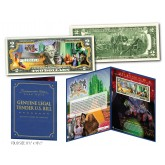 WIZARD OF OZ * YELLOW BRICK ROAD * Genuine U.S. $2 Bill in SPECIAL COLLECTIBLE DISPLAY (Ltd. Ed.)