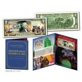 WIZARD OF OZ * DOROTHY Ruby Red Slippers * Genuine U.S. $2 Bill in SPECIAL COLLECTIBLE DISPLAY (Ltd. Ed.)