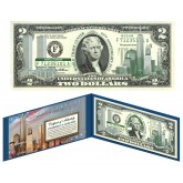 5 Consecutive Serial Number WORLD TRADE CENTER 9/11 WTC - 10th Anniversary - Colorized $2 US Bills