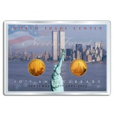 WORLD TRADE CENTER - 10th Anniversary - FREEDOM TOWER 24K Gold Plated 2-Coin Set