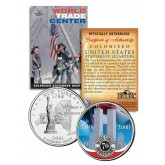 WORLD TRADE CENTER - 7th Anniversary - 9/11 New York State Quarter U.S. Coin WTC