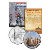 WORLD TRADE CENTER - 8th Anniversary - NEVER FORGET 9/11 NY State Quarter US Coin WTC