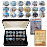 * COMPLETE SET * WTC World Trade Center Anniversary 9/11 US MINT NEW YORK STATE Quarter 18-Coin Set with BOX