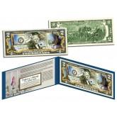 SEPTEMBER 11 MEMORIALS Colorized $2 Bill U.S. Genuine Legal Tender - 9/11 WTC Museum NY NJ Israel