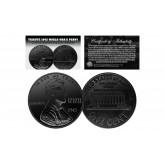 TRIBUTE 1943 World War II Steelie PENNY Coin Clad in Genuine Black Ruthenium (Lot of 3)