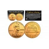TRIBUTE 1943 World War II Steelie PENNY Coin Clad in 24 Karat Gold (Lot of 3)