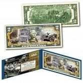 WILLYS MB FORD GPW JEEP Military Truck WWII Genuine Legal Tender U.S. $2 Bill
